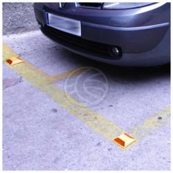 Riflettore plastico strada strada doppio adesivo retro riflettente se91 marcatura sicurezza stradale