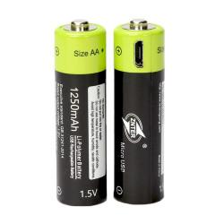 2 pcs 1.5V AA 1250mAh batería recargable del li-polímero micro USB que carga las baterías 1.5v