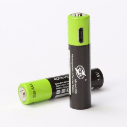 2 batterie rechargeable lithium polymere 400mAh pile 1.5v aaa lr03 Znter micro usb li-polymer