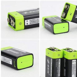4 Batterie rechargeable au lithium usb znter S19 9v 6f22 400mAh
