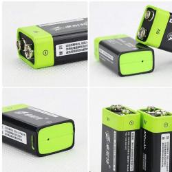 4 UNIDS ZNTER S19 9 V 400 mAh USB Recargable 9 V Lipo Batería Para RC Cámara Drone Accesorios