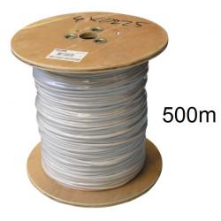 500m cable 4x0,22 souple blinde blanc ø4mm fil 4x0.22 avec ecran cablage alarme telephone