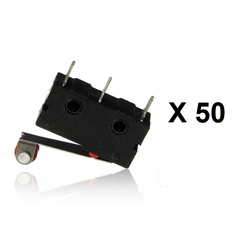 5Pcs//Set Micro Roller Lever Arm Open Close Limit Switch KW12-3 PCB MicroswitchBL