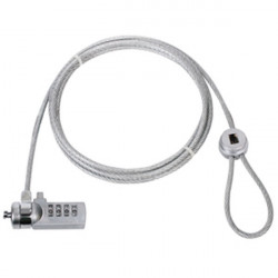 Cable antivol code cadenas combinaison 4 chiffres cmp-safe4 protection ordinateur portable ecran