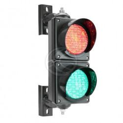 IP65 Außenampel 2 x 100mm 220V LEDs grün und rot SM31 Semaphor Lichter