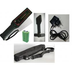 Détecteur de métaux 16 led + batterie rechargeable + chargeur + support ceinture + housse