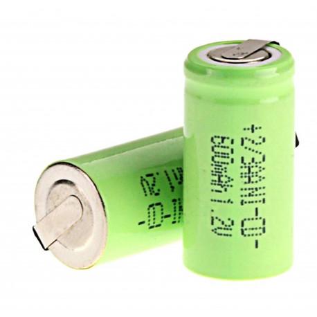 1 batería recargable 2 / 3AA Ni-Cd 600mAh 1.2v Clase energética A ++