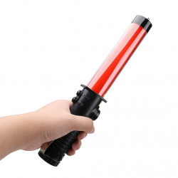 Baton lumineux 26cm torche Eclairage led lumiere rouge circulation route aeroport