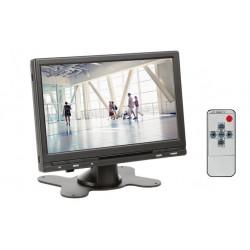 Moniteur video numérique 18cm couleur 7 pouce 12v tft lcd telecommande surveillance 16:9 4:3 mon7t1