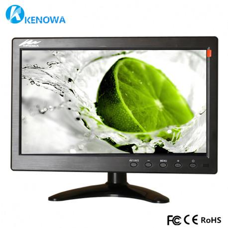 """10 1 """"LCD HD Monitor Mini TV y pantalla de computadora Pantalla en color 2 canales Video Input"""