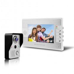 Kit de système interphone visuel visuel de porte de sonnette de téléphone de porte de 7 pouces
