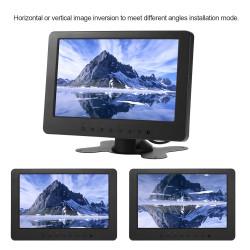 Moniteur audio video 18cm couleur 7 pouce 12v pour 2 cameras lcd telecommande surveillance