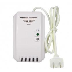 CA 220 V Alarma de gas natural autónoma Detector de fugas de gas de carbón NC SIN relé Salida