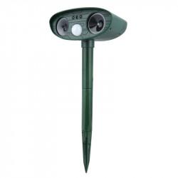 Solar Power Akustooptisches Infrarot-Vogelabwehrmittel zur Abschreckung von Taubenvögeln