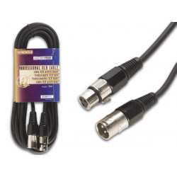 Professional xlr cable, xlr male to xlr female (3m black)