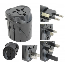 Universal electric outlet adapter 150 countries europe travel travel11 hq-usa uk japan swiss
