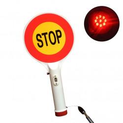 Dos vías de mano Recargable LED Señal de tráfico Luz de parada Lámpara Indicador de coche