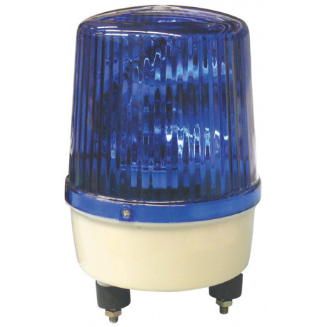 Gyrophare etanche fixe 220vca 21w bleu rb190 ip 65 gyrophares electriques bleus feux girophare