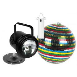Kit lumiere disco projecteur ampoule par 36 boule a facettes couleur 15cm vdlprom3