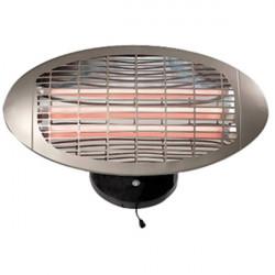 Irradiatore di calore hq da 1500w al quarzo - montaggio a parete