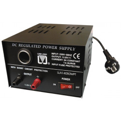 Fixed power supply 13.8v 6a with car plug output
