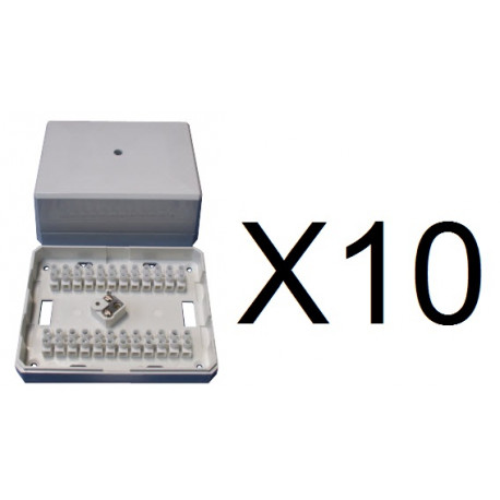 10 Anti tamper junction boxes 24 contacts electric device for derivation  electric terminal anti tamper junction box anti tampe - Eclats Antivols