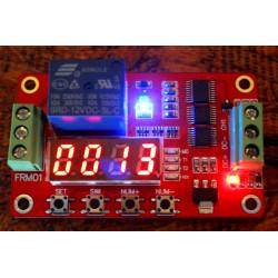 Multifunción auto -lock relay timer ciclo módulo plc domótica delay 12v
