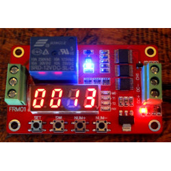 Multifunction self-lock relay cycle timer module plc home automation delay 12v
