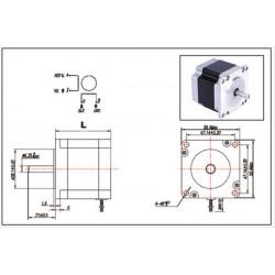 Stepper motors 23 hs 2 phases 3.5 mh