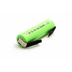 Batterie rechargeable 1200mah 2A 1.2v lr06 cosse aa am3 lr6 ni-mh avec patte pour rasoir brosse dent