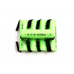 5 Rechargeable battery 1200mah 2A 1.2v lr06 aa am3 lr6 ni-mh with paw for razor brush tooth