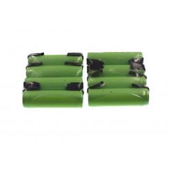8 Batterie rechargeable 1200mah 2A 1.2v lr06 cosse aa am3 lr6 ni-mh avec patte pour rasoir brosse dent