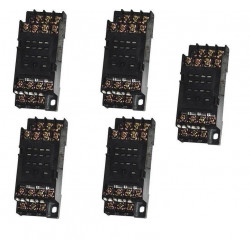 5 X Relay socket pyf14a din rail for omron 14 pins hha54p my4 jqx-13f 4z 3a 300v 7a