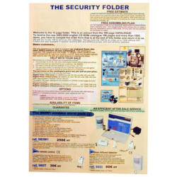 Folder 2003 english folders with prices and without our name (20 items) alarm, video surveillance, automatic gates, self defense