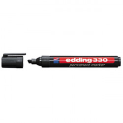 1 stylo feutre marqueur edding marquage noir permanent ofc-ed330-bk 300 1 5mm