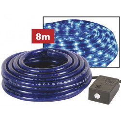 Rope light 2 channels 8m blue + with waterproofed plug + control box
