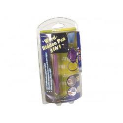 Stylo feutre multifonctions a encre invisible mini torche eclairage ultraviolet vdliip uv noire