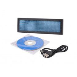 Mini ricaricabile display a led blu programmabile nome distintivo Scrolling Con programmazione USB, lingue diverse, 8 compatibil