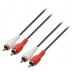 Sound- audio-kabel 2 cinch- stecker auf 2 cinch- stecker-kabel 5m - 452/5