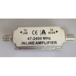 Wideband inline 15 18db amplifier