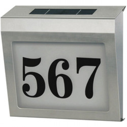 Brennenstuhl stainless steel solar power house number