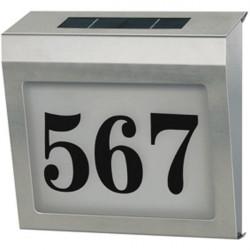 Plaque de numerotation rue rétro éclairée étanche bn house02 a energie solaire brennenstuhl
