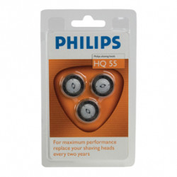 3 köpfe rasierer philips hq 55 3 405 6415 6423 6424 6445 6605 6610 6831 6842 6843 6844 6849