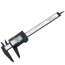 Pied à coulisse numérique vernier 150mm dca150 acier inoxydable caliper metalique afficheur 5 digit