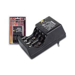 Cargador descargador accus bateria recargable accu nimh nicd alimentacion 230vac vl3288