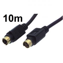 Cable cordon 10m s vhs mâle vers s vhs mâle cable-524/10