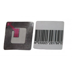 Etiqueta codifica bloqueado(tachado) 8.2mhz (1000) desabrigados pvc no desactivable permanente