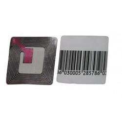 Etiquette code barre 8.2mhz eas (les 1000) sans protection pvc non desactivable permanente
