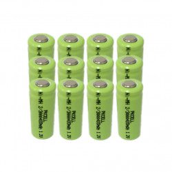 12 x 1.2V 2/3AAA rechargeable battery 400mah 2/3 AAA ni-mh nimh cell with tab pins for electric shaver razor cordless