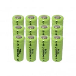 12 x 1.2V batería recargable 2 / 3AAA 400mah 2/3 AAA ni-mh nimh cell con los pernos de la pestaña